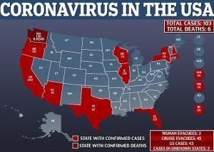 31 morti e 1000 contagi negli states