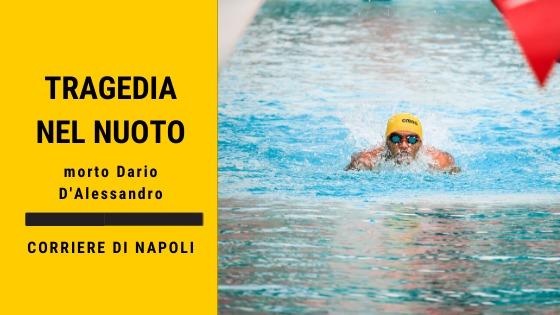 morto il nuotatore Dario D'Alessandro
