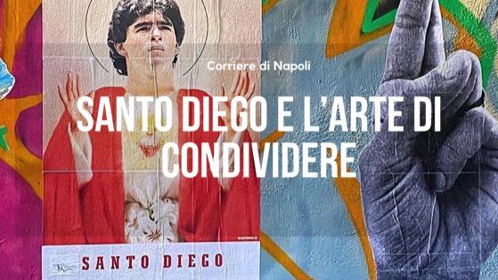 """#vivinapoli: FaceToFace con…SantoDiego! Il creatore dell'adesivo di Diego: """"Maradona lega generazioni da 30 anni"""""""