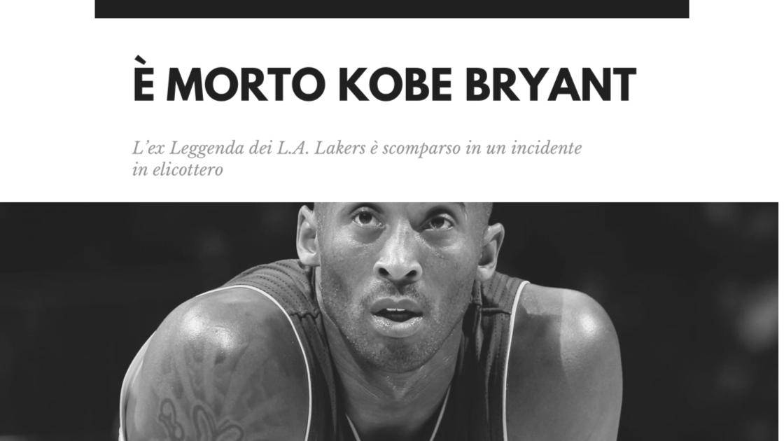Sport, Basket: tragedia negli USA! È morto Kobe Bryant