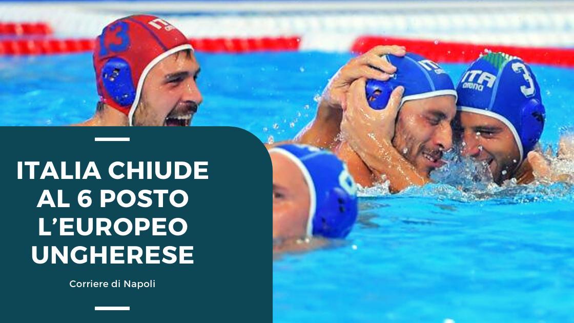 Sport, Pallanuoto: Italia chiude al 6° posto l'Europeo