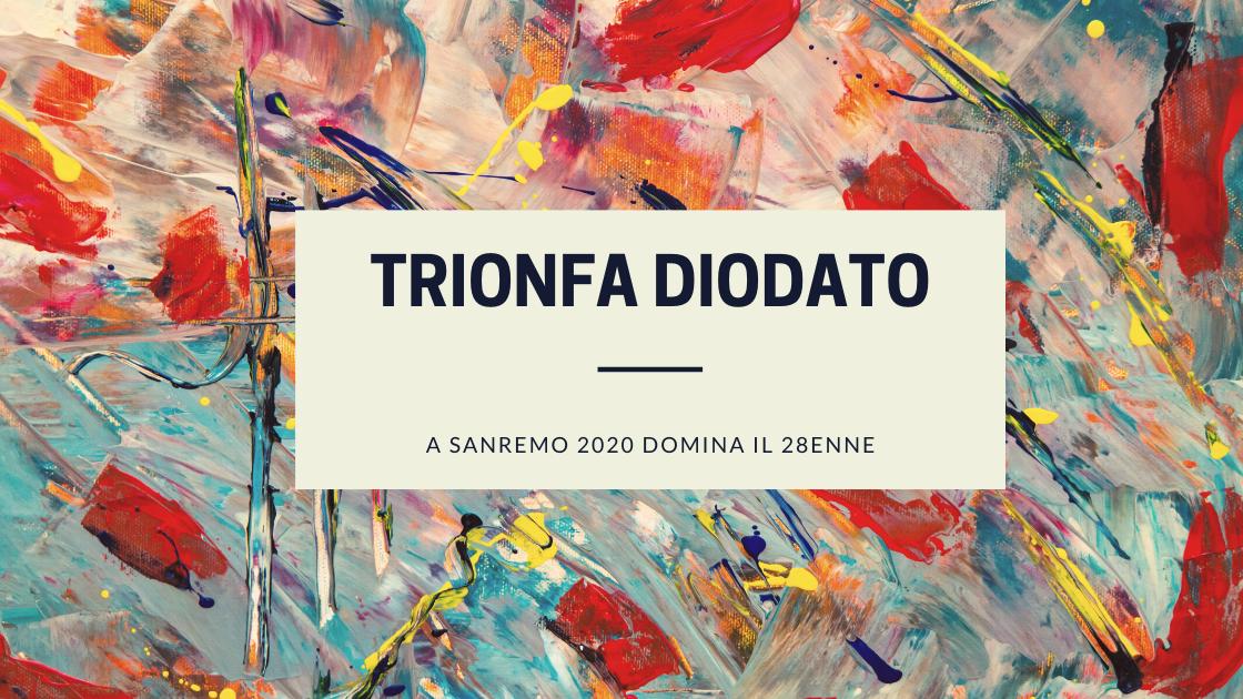Musica: a Sanremo 2020 trionfa Diodato!