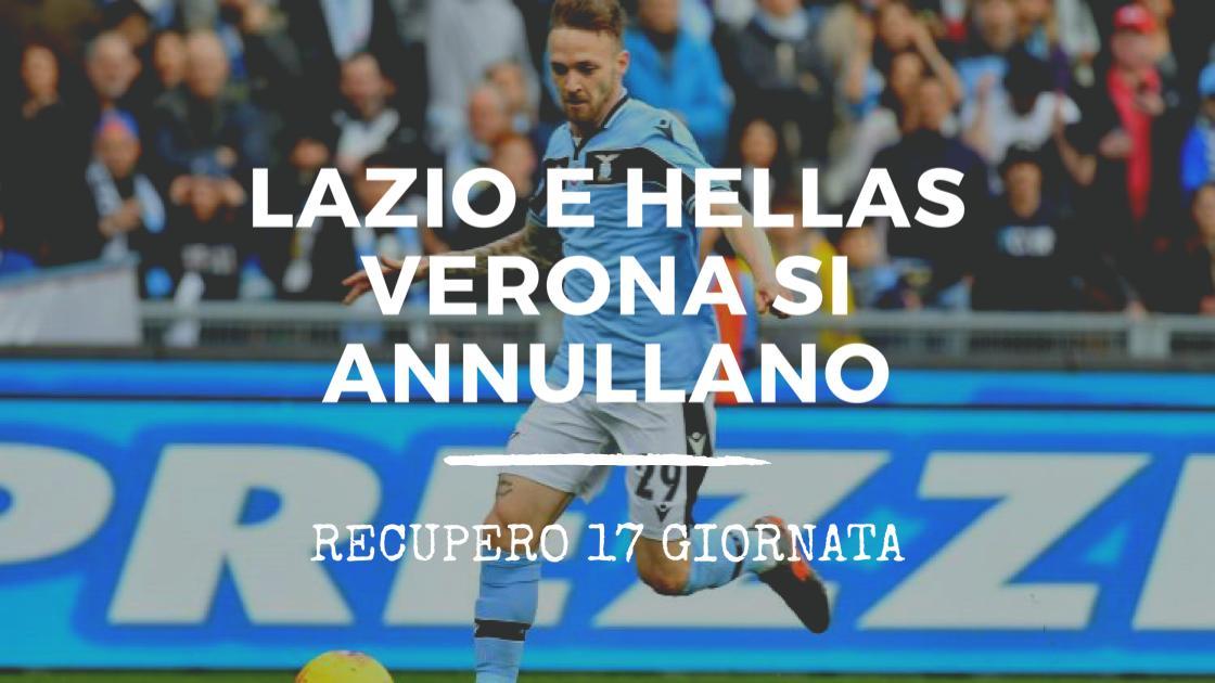 Calcio, Serie A 2019/2020: Lazio ed Hellas si annullano