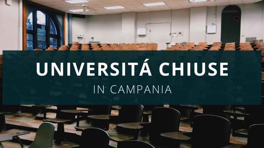 Università chiuse in Campania