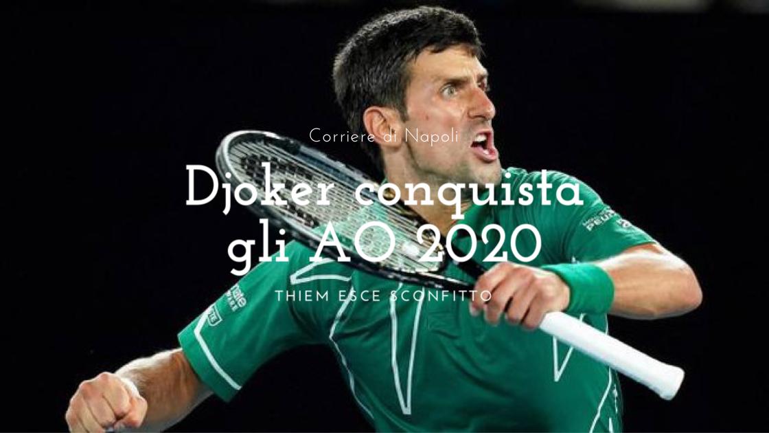 Djokovic conquista gli Australian Open 2020