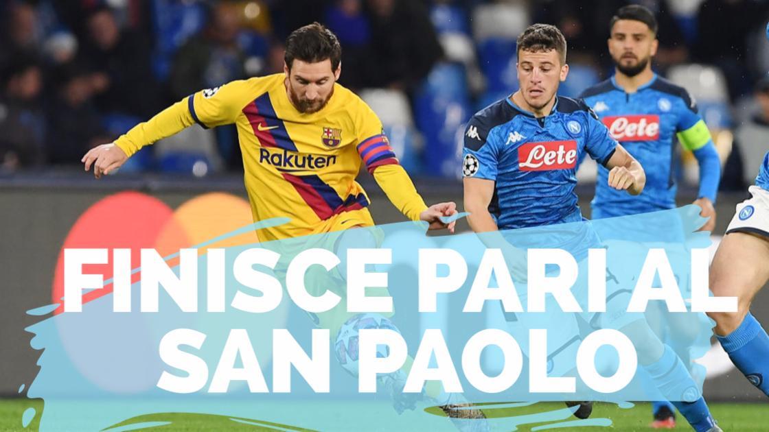 Calcio, Champions League 2019/20: finisce pari al San Paolo. Griezmann risponde a Mertens