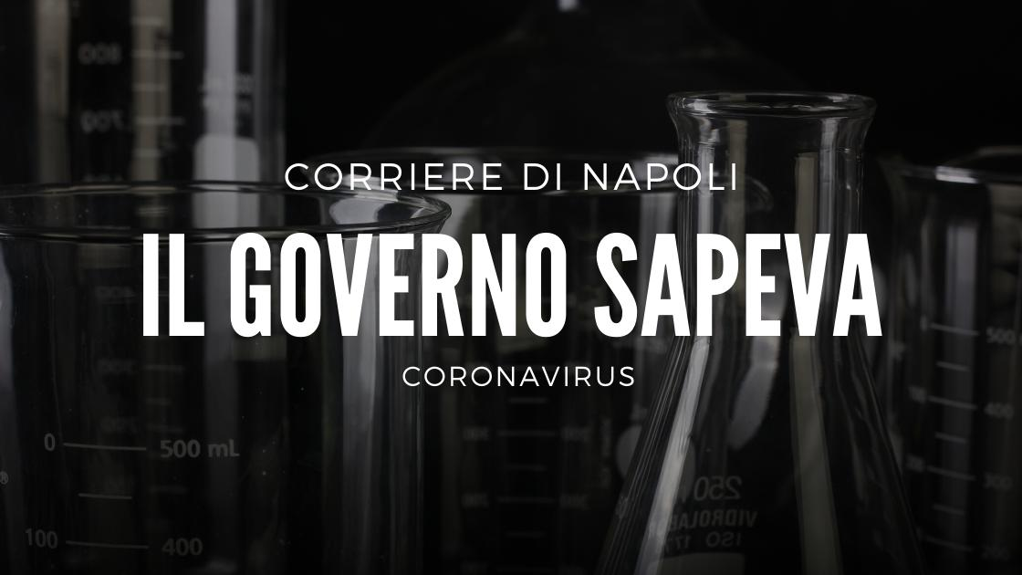 News: Coronavirus, il Governo sapeva!