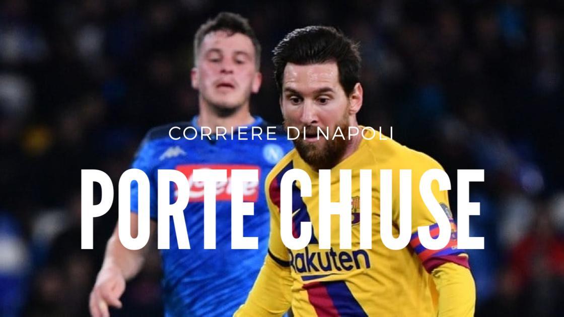 Sport, Calcio: Barcellona-Napoli a porte chiuse