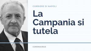 Coronavirus, si tutela anche la Campania