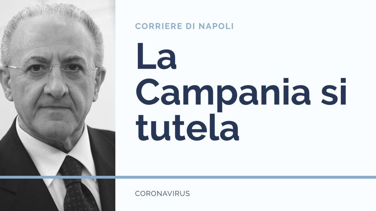 Coronavirus: si tutela anche la Campania