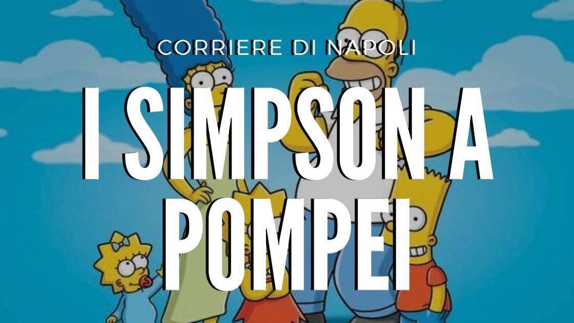 #vivinapoli: Pompei, I Simpson contro il Coronavirus!
