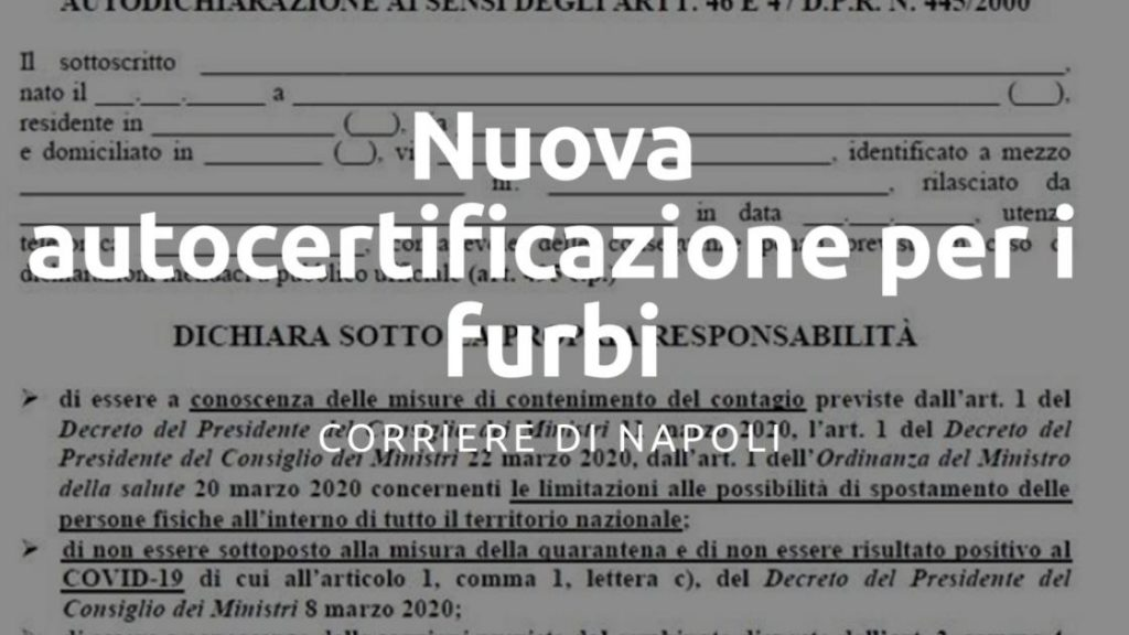 Gabrielli: Nuova autocertificazione per i furbi