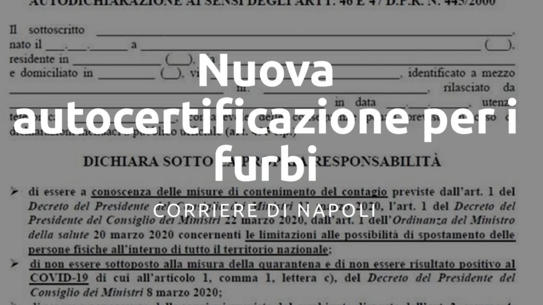 Coronavirus, Gabrielli: nuova autocertificazione per i furbi