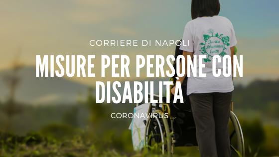 Coronavirus: misure per persone con disabilità