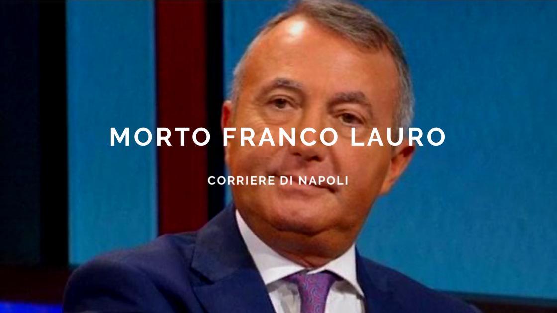 Lutto alla RAI: morto il giornalista Franco Lauro