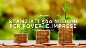 stanziati 500 milioni per poveri e imprese