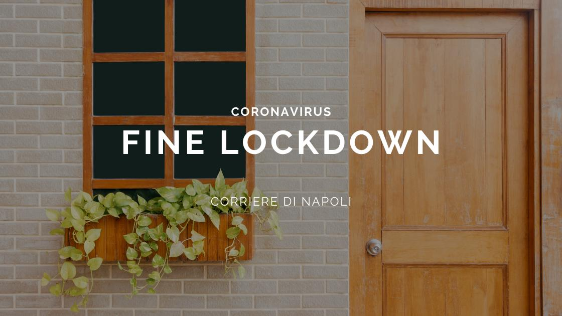 Coronavirus: fine del lockdown