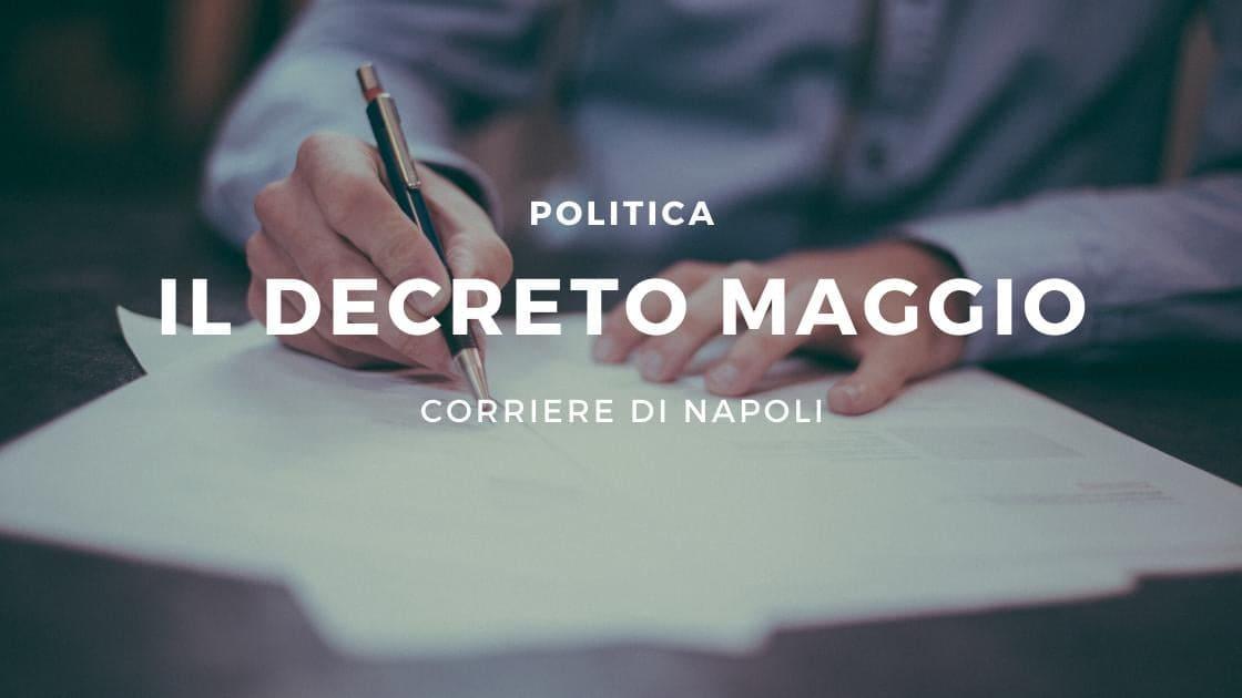"""Politica, le anticipazioni del """"decreto maggio"""""""