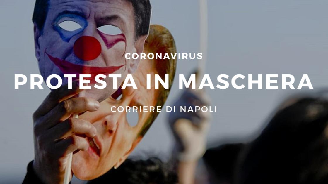 Coronavirus, Napoli: protesta in maschera contro Conte