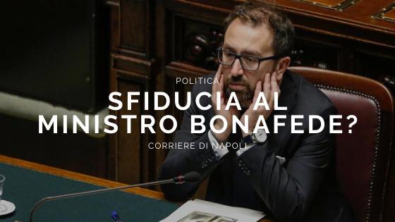 Politica: sifducia contro il ministro Bonafede?