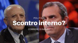 Politica: De Magistris contro De Luca?