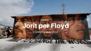 Napoli, murale di Jorit per Floyd e contro il razzismo