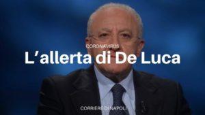 Vincezo De Luca allerta la Campania