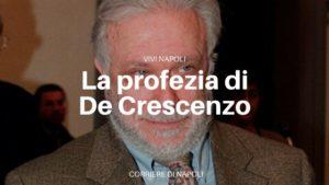 """""""Accadde domani"""": il testamento di Luciano De Crescenzo"""