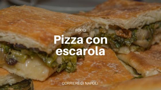 Pizza con escarola: ¡un titbit!