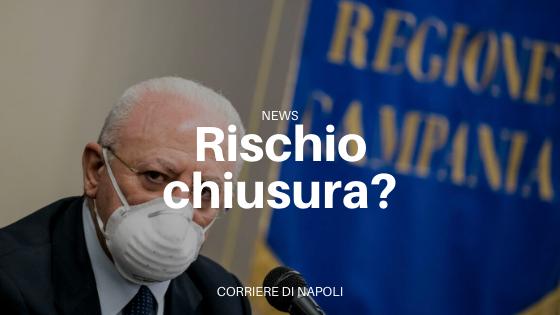 """Vincenzo De Luca: """"Se i contagi aumentano chiuderemo tutto"""""""