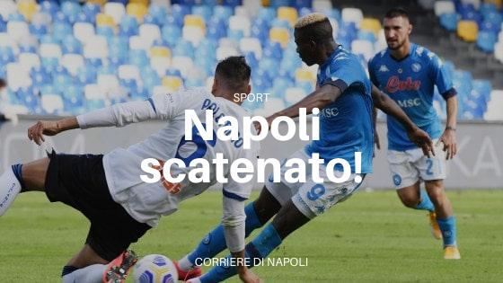 Un Napoli scatenato batte per 4 a 1 l'Atalanta