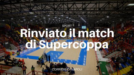 Gevi Napoli Basket, rinviato il derby di Supercoppa a Scafati