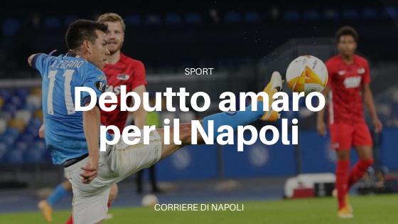 Debutto amaro per il Napoli in Europa League: sconfitta per 1 a 0 con l'Alkmaar