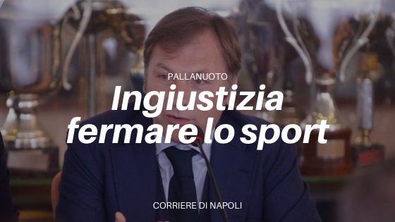 """Franco Porzio: """"Ingiusto fermare la pallanuoto. Sono preoccupato per i giovani"""""""