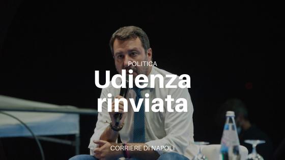 Processo Salvini, udienza rinviata al 20 novembre