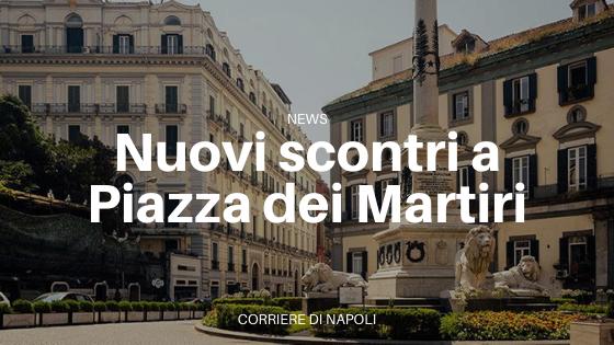 Proteste contro De Luca, scontri in Piazza dei Martiri
