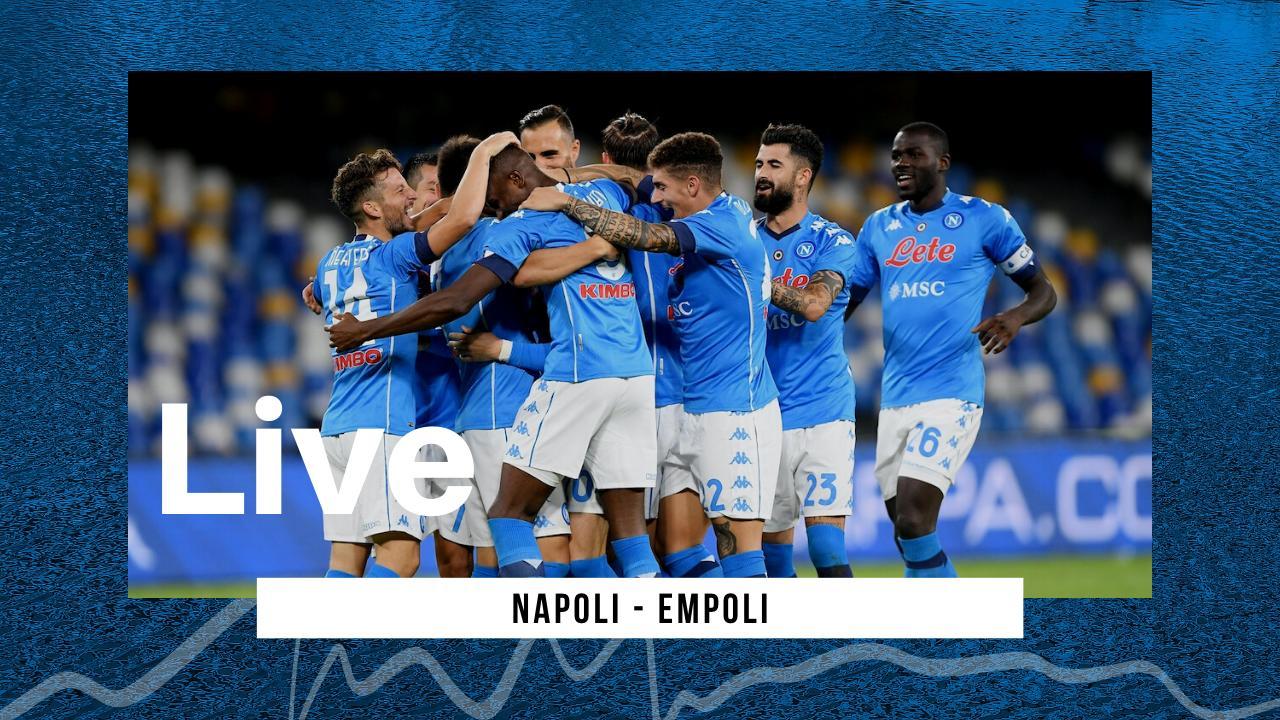 LIVE Coppa Italia 2020\2021 Napoli-Empoli: comincia il cammino dei campione in carica