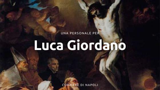Una personale per Luca Giordano, I Santi patroni di Napoli adorano il crocefisso