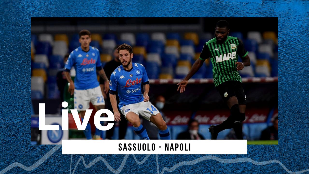 LIVE Sassuolo-Napoli 3-3 Serie A 2020/21: azzurri che non riescono a vincere in trasferta