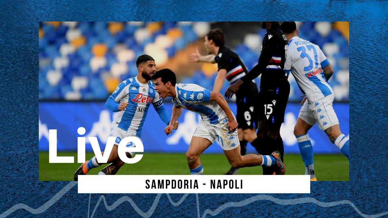 LIVE Sampdoria-Napoli 0-2, Serie A 2020/21: gli azzurri espugnano Marassi e restano in scia Champions League