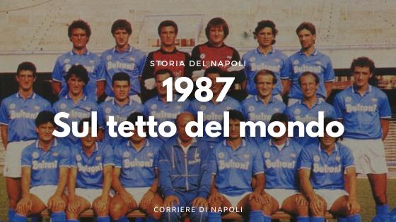 1987: la prima volta sul tetto d'Italia